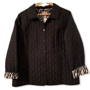 Chico's Women's Quilted Reversible Jacket size 2 L